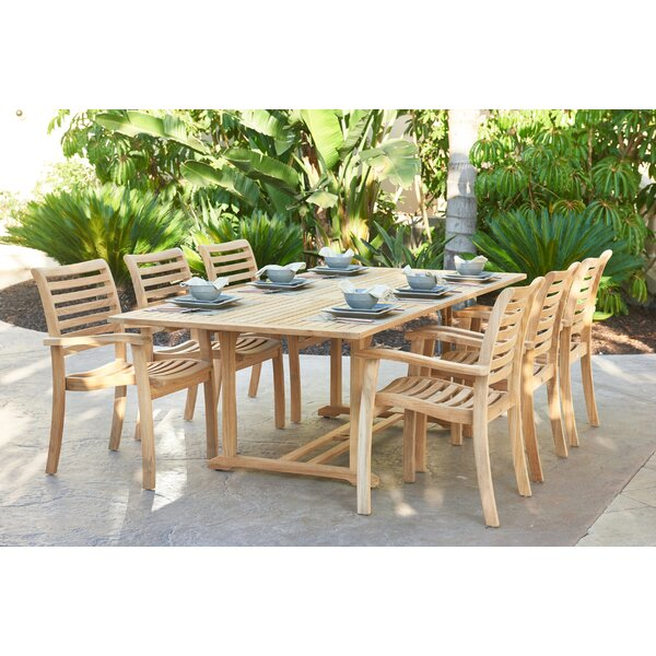 Rectangular Extension Dining Table by HiTeak Furniture