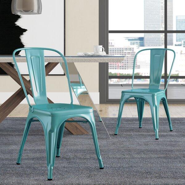 Hannum Stackable Industrial Chic Dining Chair (Set of 2) by Brayden Studio
