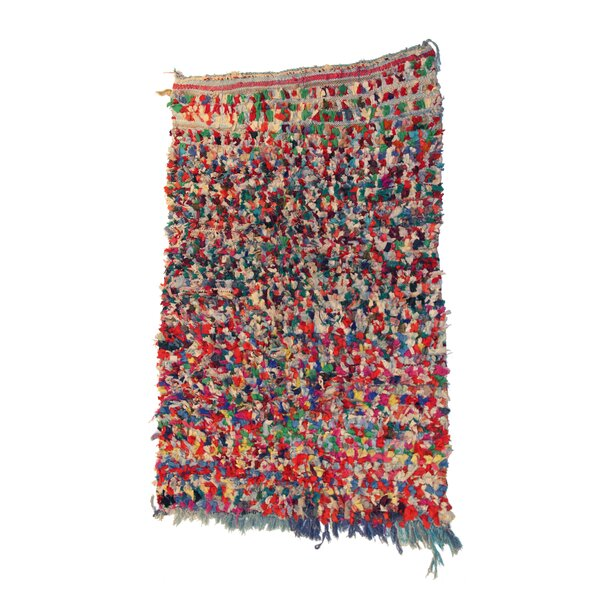 Boucherouite Azilal Hand-Woven Red/Gray Area Rug by Casablanca Market