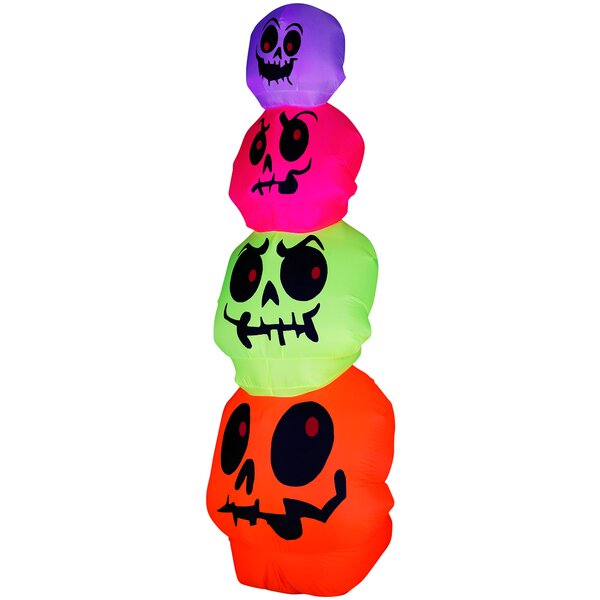 Airblown Halloween Inflatable Skulls Stack Decoration by The Holiday Aisle