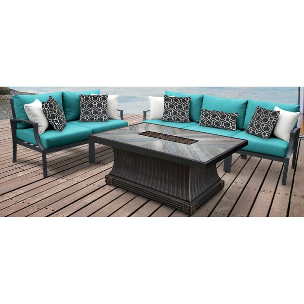Brodeur Outdoor 6 Piece Sectional Seating Group with Cushion by Canora Grey