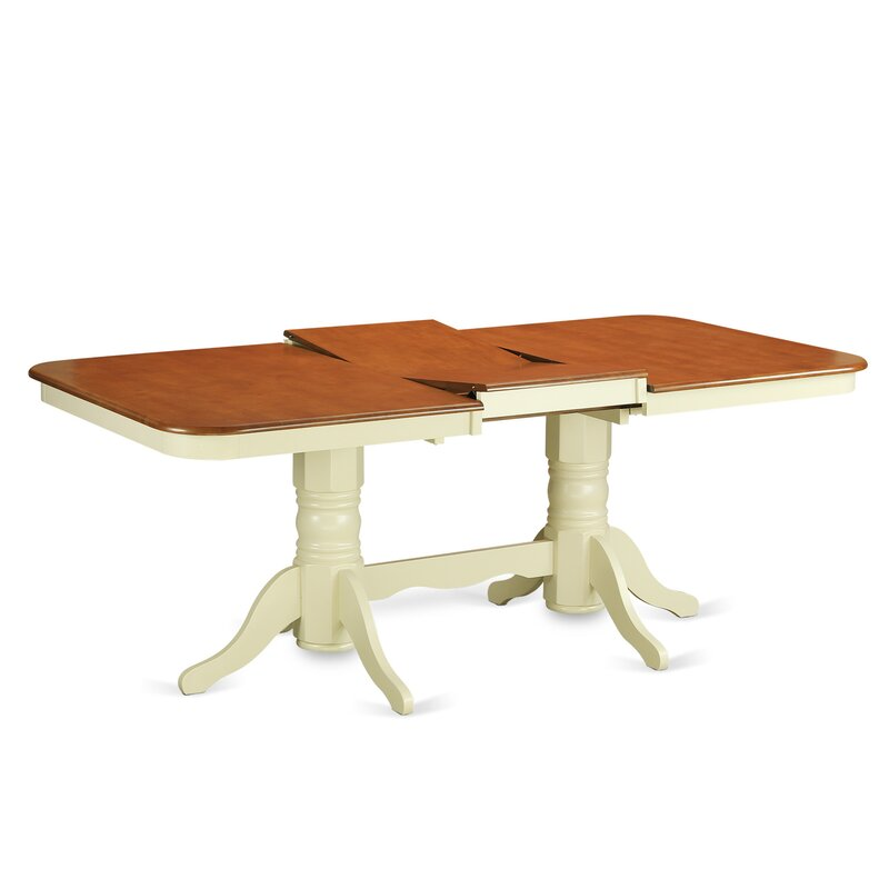August Grove Pillsbury Piece Wood Dining Set With Double Pedestal - Conference room table legs