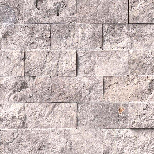 2 x 4 Travertine Splitface Tile in Gray by MSI