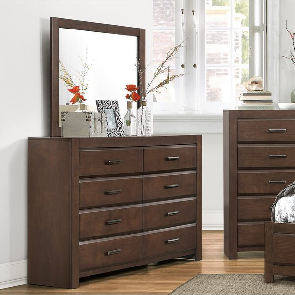 Mccarver 8 Drawer Dresser with Mirror by Red Barrel Studio