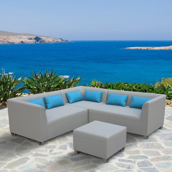 Temperley 4 Piece Sectional Seating Group with Cushions by Orren Ellis