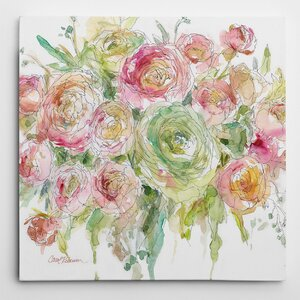 'Graceful Bouquet' by Carol Robinson Painting Print on Wrapped Canvas by Wexford Home