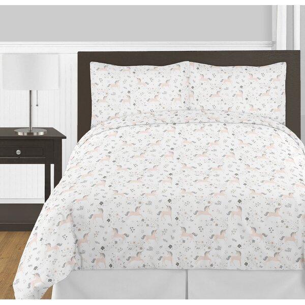 Unicorn 3 Piece Full/ Queen Comforter Set by Sweet Jojo Designs