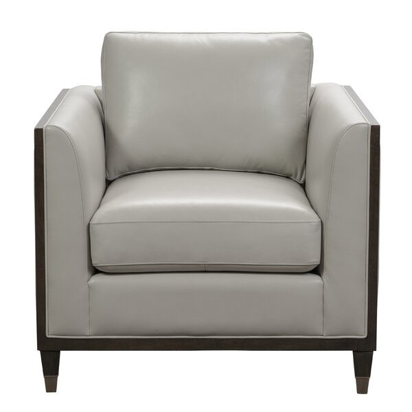 Dorlean Leather Accent Armchair by Brayden Studio