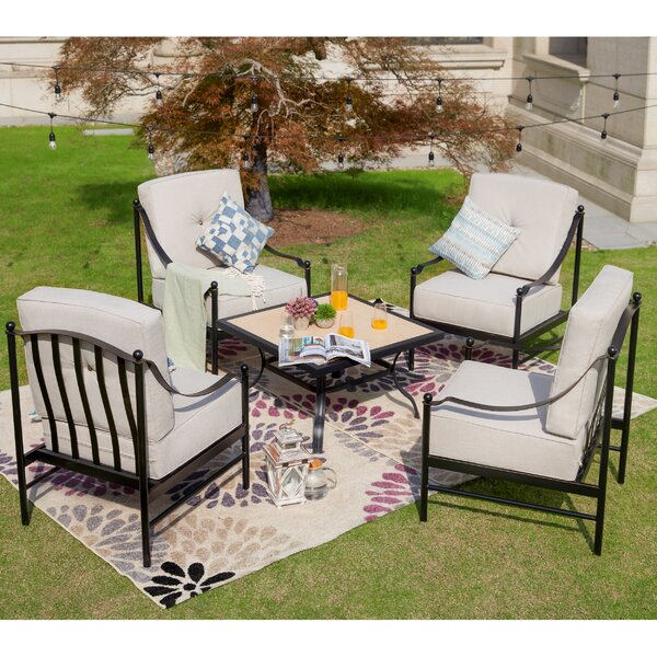 Richard 5 Piece Multiple Chairs Seating Group with Cushions by Alcott Hill