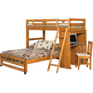 Online Reviews Twin over Full L-Shaped Bunk Bed ByChelsea Home