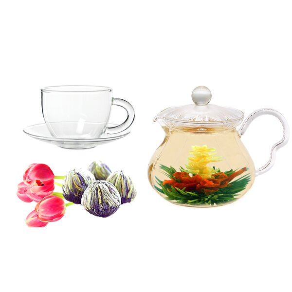 Fairy 0.63-qt. Jasmine Fab Flowering Teapot Set by Tea Beyond