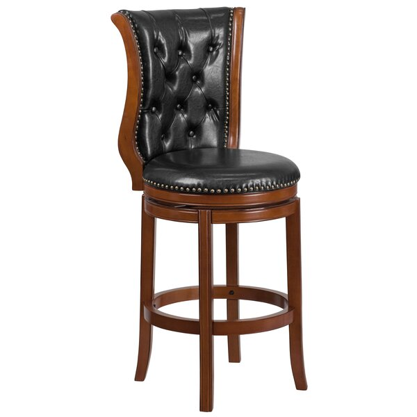 Schoenhofen 30'' Swivel Bar Stool by Astoria Grand
