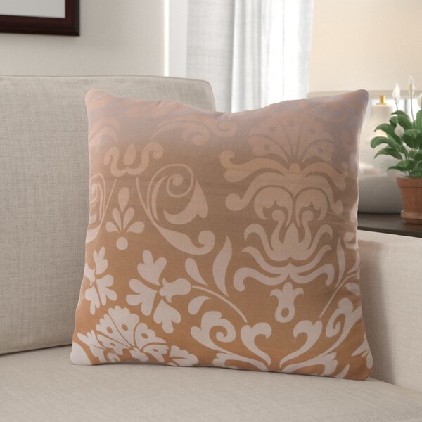 Brownsburg Damask Cotton Throw Pillow by Red Barrel Studio