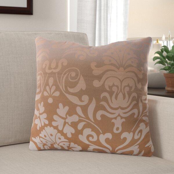 Brownsburg Damask Cotton Throw Pillow by Red Barrel Studio