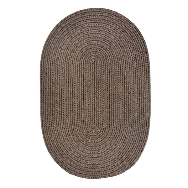Handmade Dark Taupe Indoor/Outdoor Area Rug by The Conestoga Trading Co.