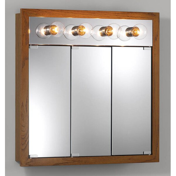 30 x 30 Surface Mount Medicine Cabinet with Lighting by Jensen