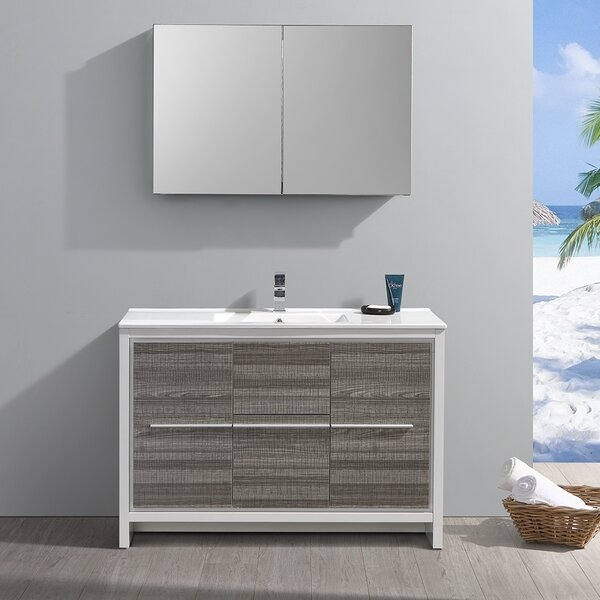 Trieste Allier Rio 48 Single Bathroom Vanity Set with Mirror