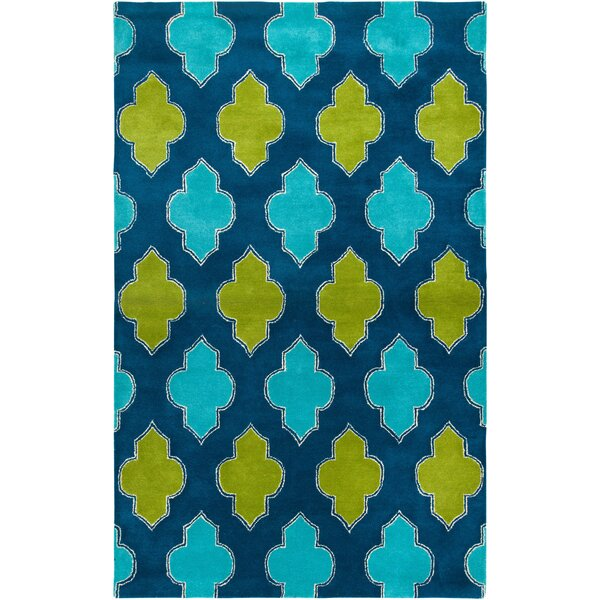 Ivory Hand-Tufted Blue/Green Area Rug by Meridian Rugmakers