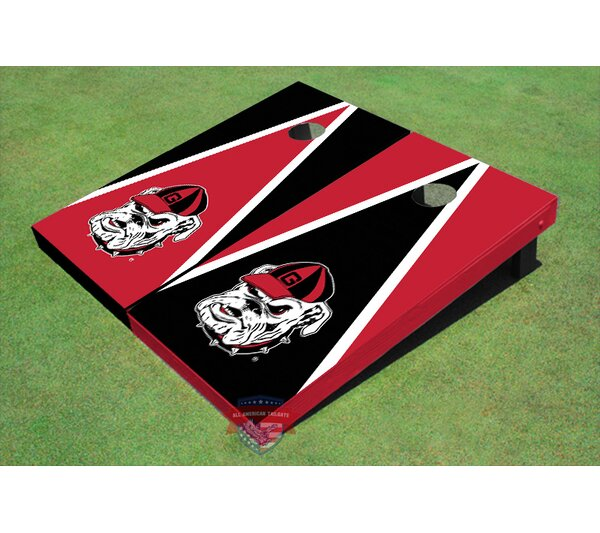 NCAA Hairy Dawg Triangle Cornhole Board (Set of 2) by All American Tailgate