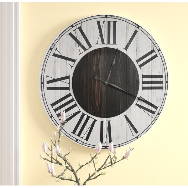Oversized Hosea Farmhouse Wall Clock by Darby Home Co
