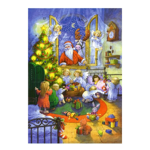 Sellmer Santa with Angel Advent Calendar by The Holiday Aisle