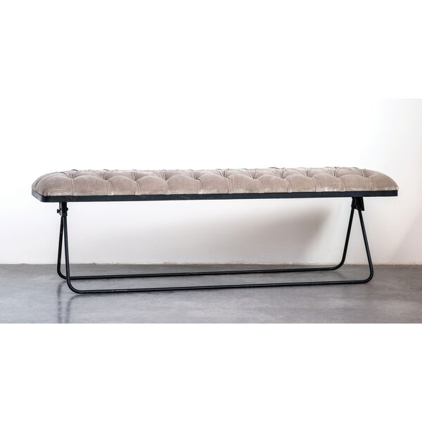 Swanigan Foldable Upholstered Bench by Williston Forge