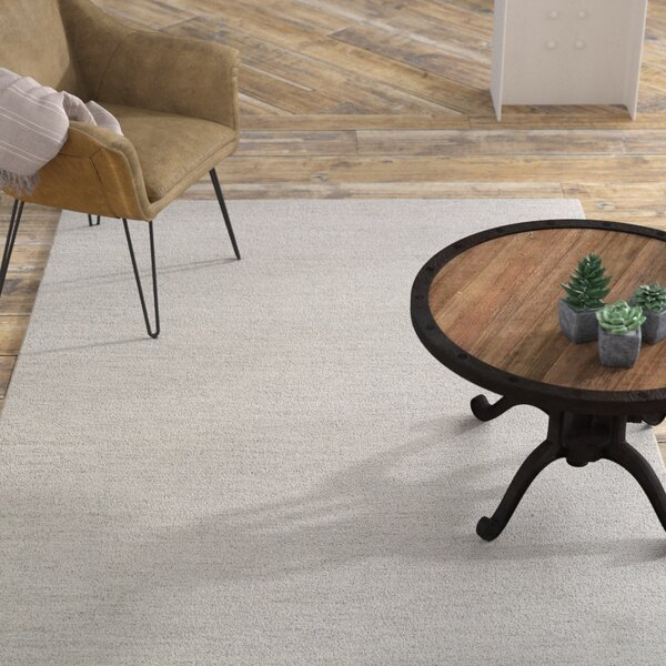 Hugo Hand-Woven Ivory Area Rug by Williston Forge