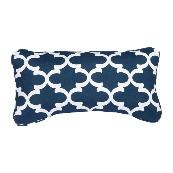 Stella Scalloped Indoor/Outdoor Lumbar Pillow (Set of 2) by Mozaic Company