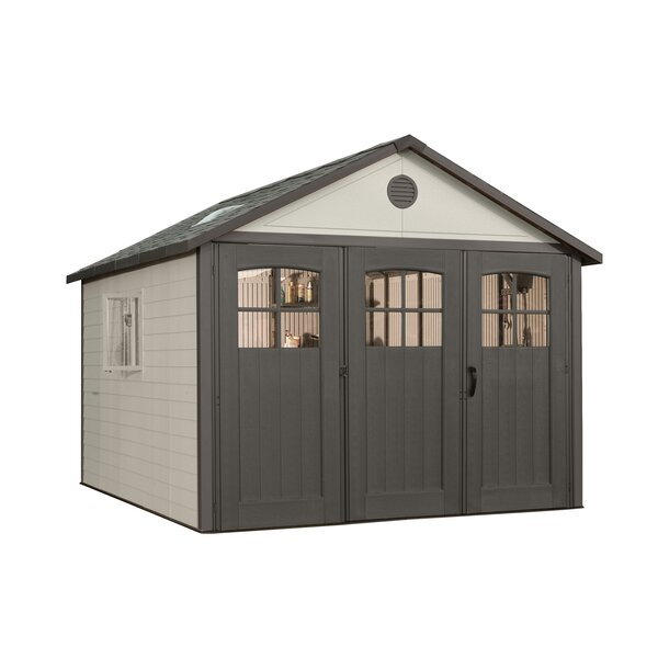 11 ft. W x 11 ft. D Plastic Storage Shed by Lifetime