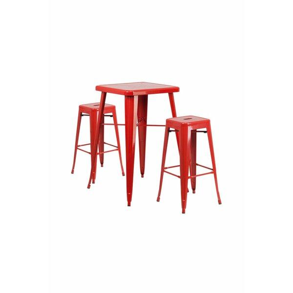 Jesse 3 Piece Bar Height Dining Set by Trent Austin Design