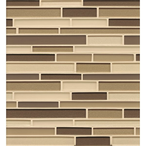 Remy Glass 12 x 13 Mosaic Random Interlocking Blends Tile in Arlington by Grayson Martin