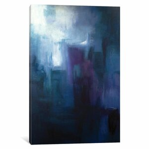 'Urban Nocturne' Painting Print on Canvas by East Urban Home