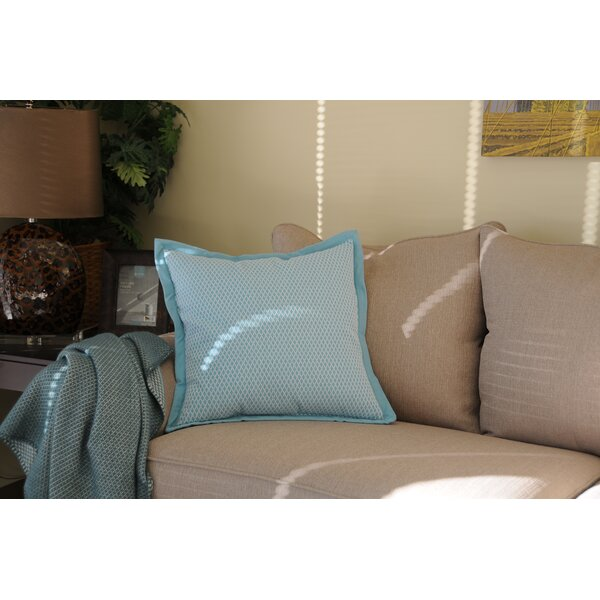 Juilliard Diamond Stitch Cotton Throw Pillow by Winston Porter