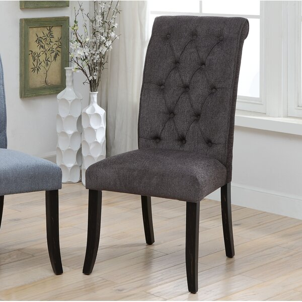 Tomasello Transitional Upholstered Dining Chair (Set of 2) by Ophelia & Co.