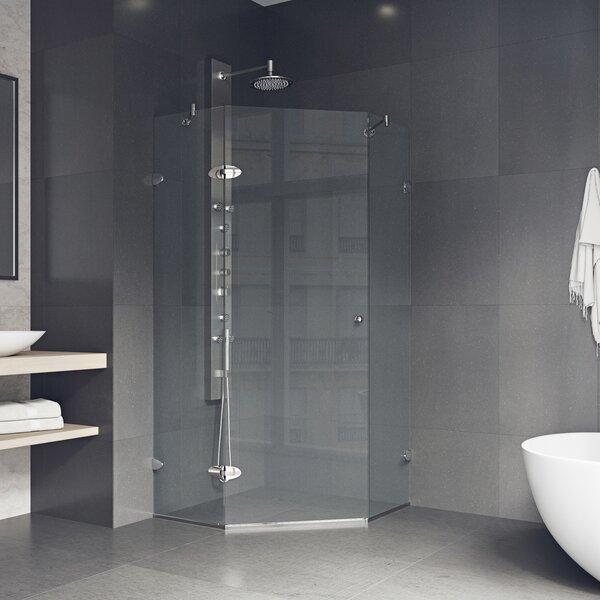 Verona 42 x 73.37 Neo-Angle Hinged Shower Enclosure by VIGO