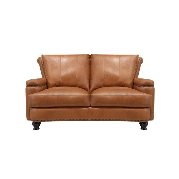 Deakin Leather Loveseat by Canora Grey