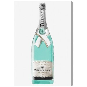 'Priceless Champagne' Graphic Art on Wrapped Canvas by Willa Arlo Interiors