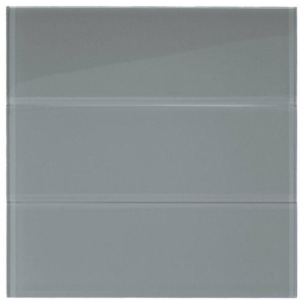 Nickel 4 x 12 Glass Mosaic Tile in Ice Gray by CNK Tile