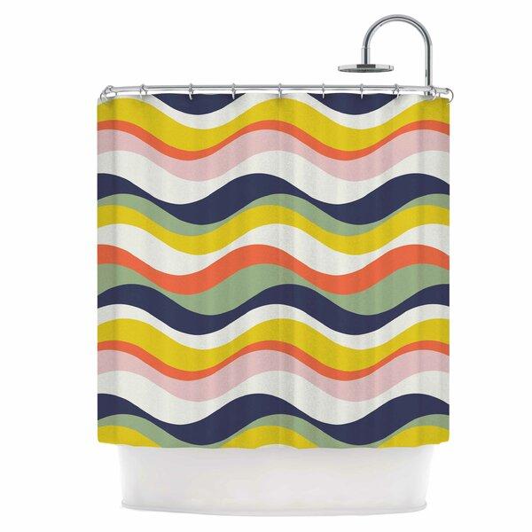 Rainbow Stripes Shower Curtain by East Urban Home