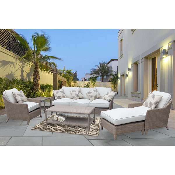 Nantucket Premium 6 Piece Sofa Set with Cushions by Rosecliff Heights Rosecliff Heights
