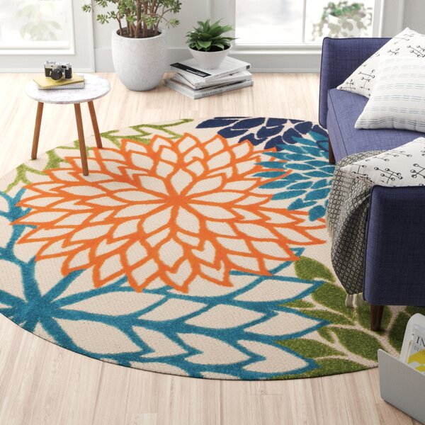 Nathalie Green/Blue Indoor/Outdoor Area Rug by Zipcode Design