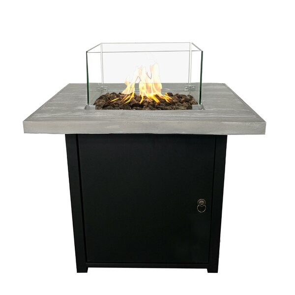 Palmas Steel Propane Fire Pit Table by Living Source International