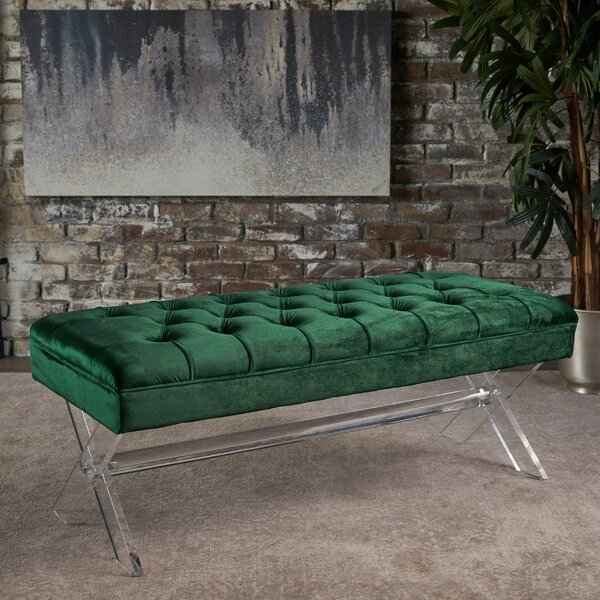Calixta Upholstered Bench by Everly Quinn