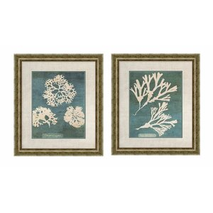 'Barrier' 2 Piece Framed Graphic Art Set by Beachcrest Home