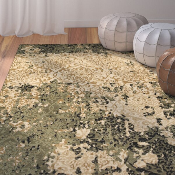 Fayme Green/Tan Area Rug by World Menagerie