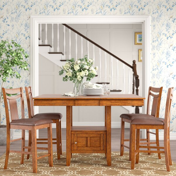 Dahlonega 5 Piece Counter Height Dining Set by Charlton Home