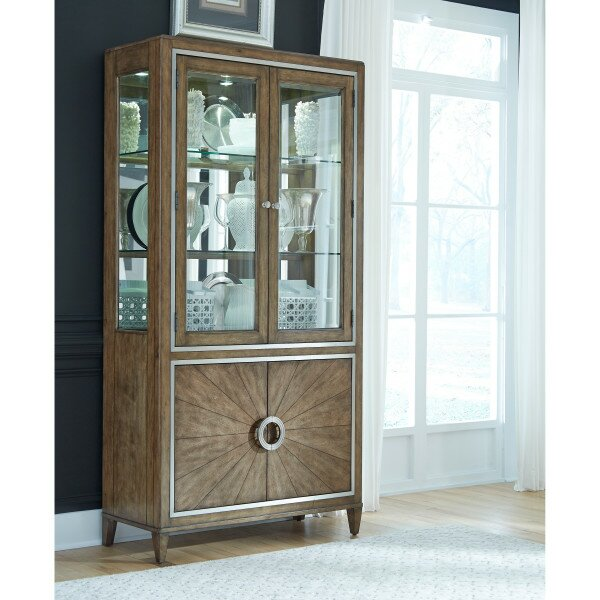 Newt Dining Curio Cabinet by House of Hampton