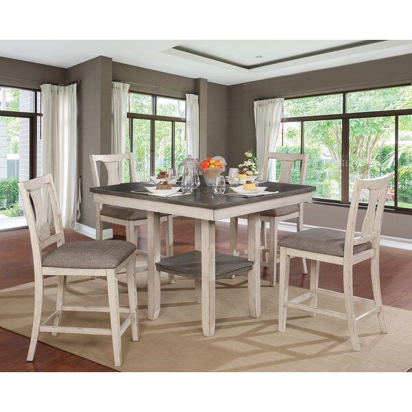 Truman 5 Piece Counter Height Dining Set By One Allium Way New