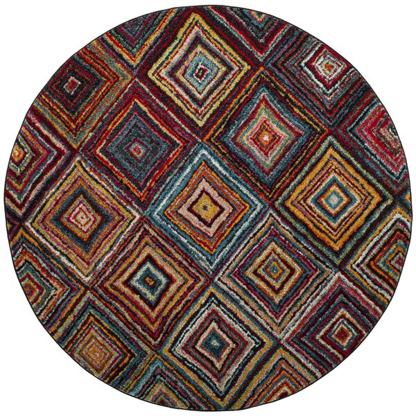 Miley Brown/Red Area Rug by Latitude Run