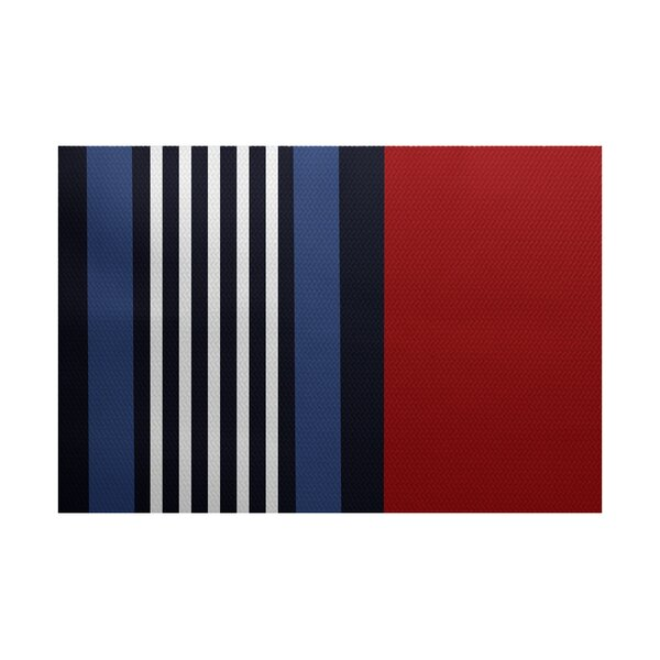 Bartow Red/Black/Blue Indoor/Outdoor Area Rug by Breakwater Bay